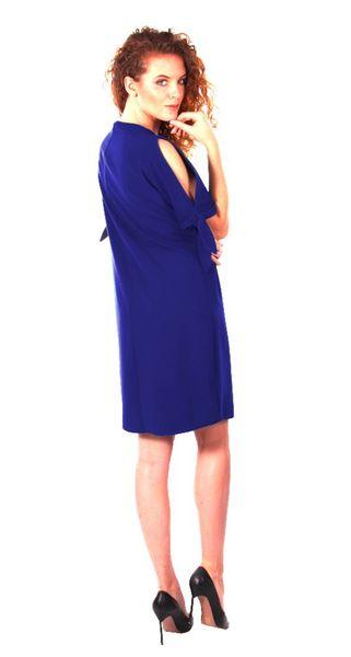 Luźna sukienka koktajlowa - chaber Rozmiar - 42 zdjęcie 4