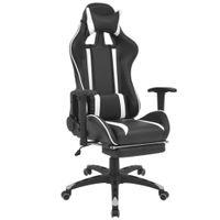 Regulowane Krzesło Biurowe Z Podnóżkiem, Białe