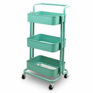 17330 Wózek kuchenny mobilny z 3 koszykami MIĘTOWY kolor