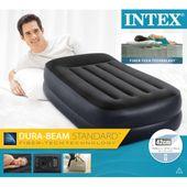 Intex Materac dmuchany PVC, z poduszką, 99x191x42 cm, czarny GXP-680211 zdjęcie 4