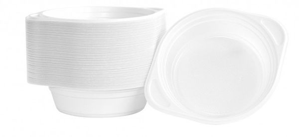 Flaczarka Plastikowa Office Products, 500Ml, Śr. 16Cm, 100 Szt., Biała