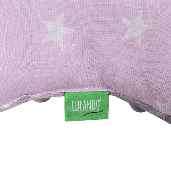 Lulando Poduszka do wózka MINKY, Szary / białe gwiazdki na różowym tle, 40x30 cm zdjęcie 4