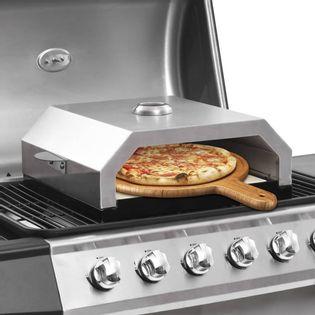 Lumarko Piec do pizzy z kamieniem, na grill gazowy lub węglowy