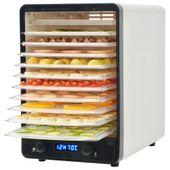Dehydrator Do Żywności Z 10 Tacami, Biały, 550 W
