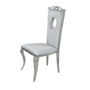 Krzesło glamour Luxury Silver - nowoczesne krzesło tapicerowane
