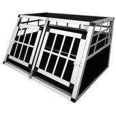 Klatka transportowa dla psa, 2 drzwi, aluminium, rozmiar S