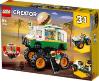 KLOCKI LEGO CREATOR 31104 MONSTER TRUCK Z BURGERAMI 3W1