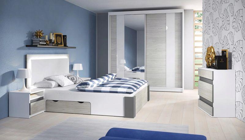 Sypialnia Zestaw Mebli Herold Id łóżko Szafa 183cm Stoliki Komoda