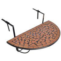 Wiszący stolik balkonowy z mozaiką, terakota