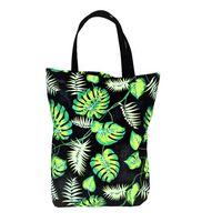EKO torba bawełniana – zielone liście monstera