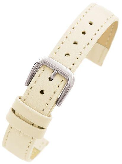 4b4bea1c378590 Pasek skórzany PACIFIC W30 do zegarka - w pudełku - beżowy - 16mm zdjęcie 1