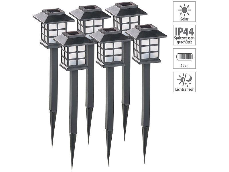 """Lampy ogrodowe solarne 6 sztuk Lunartec """"Asian"""" zdjęcie 9"""