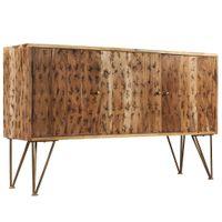 Szafka z litego drewna akacjowego, wzór fraktal, 120x30x75 cm
