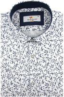 Koszula Męska Triwenti biała w gałązki z krótkim rękawem w kroju SLIM FIT K975 M 39 176/182