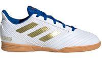 Buty piłkarskie adidas Predator 19.4 IN Sala Junior biało-niebieskie EG2829 34