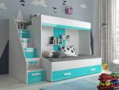 Łóżko piętrowe antresola LUX 16