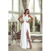 Długa biała sukienka koronkowa ślubna wesele bez rękawa 36, 38, 40