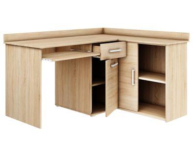biurko narożne MICHAŁ II DĄB SONOMA szkolne komputerowe wolnostojące