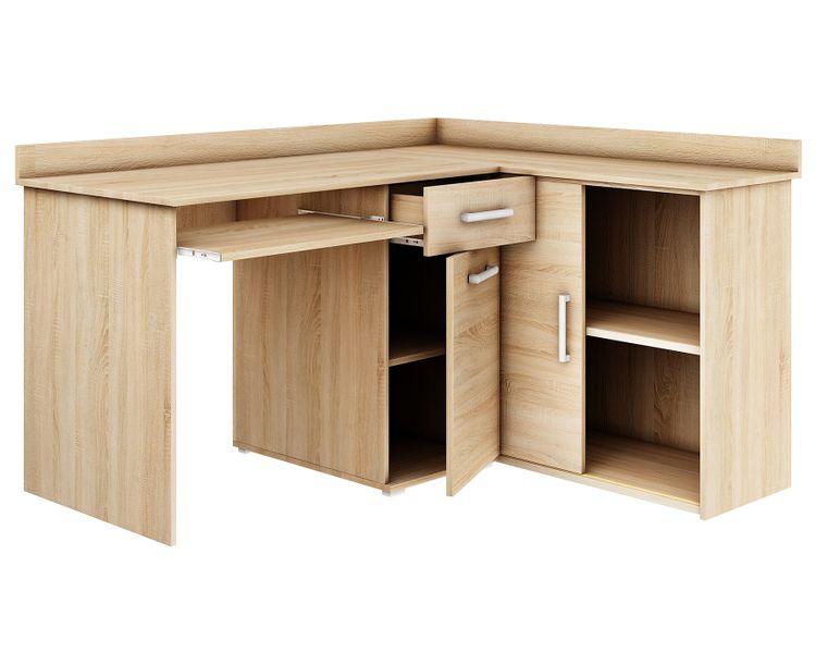 biurko narożne MICHAŁ II DĄB SONOMA szkolne komputerowe