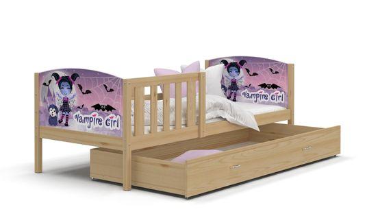 Łóżko TAMI P 190x80 wysuwana szuflada + materac