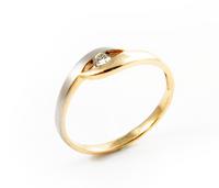Pierścionek Zaręczynowy z Brylantem [PZB -005] ROZMIAR - 23