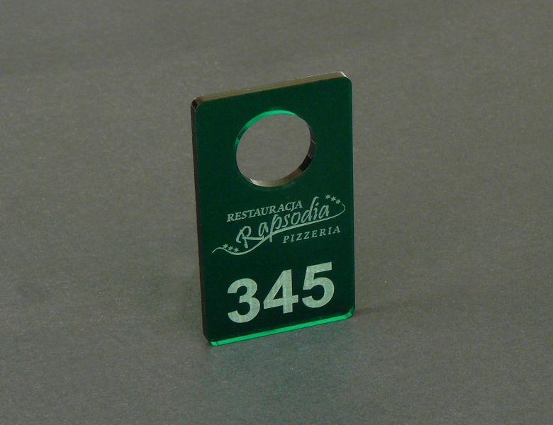 brelok do kluczy, numerek do szatni, plexi zielona przeźroczysta 3x6cm na Arena.pl