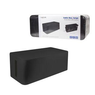 Organizer kabli LogiLink KAB0062 CableBox L, czarny