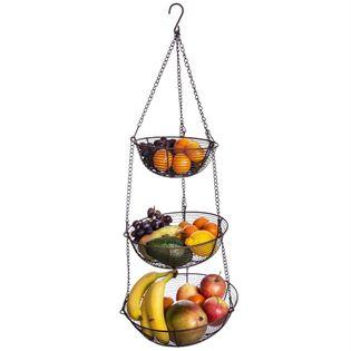 Koszyk / kosz na owoce wiszący 3 POZIOMOWY