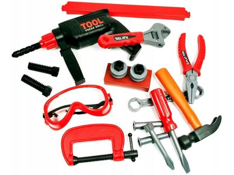 Skrzynka z narzędziami Dla Dzieci Wiertarka Warsztat Walizka Y160 zdjęcie 2