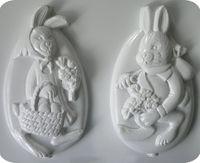 Forma do odlewów - Odlewy gipsowe - Zające w jajku (2729022)