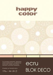 Blok techniczny kolorowy Deco ecru A4 Happy Color