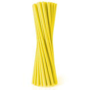 Słomki proste grube 24 cm, żółte, 8 mm, 20 szt