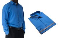 52/53 - 8XL DUŻA koszula męska bawełniana niebieska