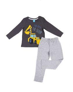 PEPCO Chłopięca, dwuczęściowa piżama z koparką