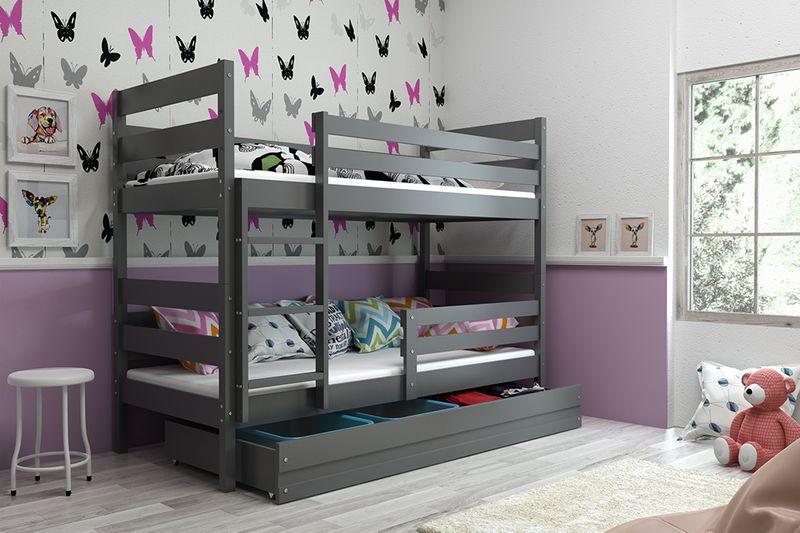 Łóżko piętrowe Eryk 200x90 dla dzieci drewniane meble dziecięce zdjęcie 7