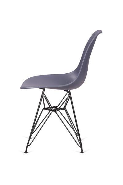 Krzesło DSR BLACK ciemny szary 04 - podstawa metalowa czarna zdjęcie 3