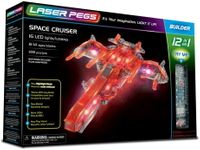 Laser Pegs Świecące Klocki 12W1 Space Cruiser 149El. 12010