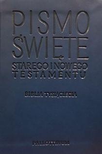 Biblia Tysiąclecia mała miękka Travel ekoskóra granatowa