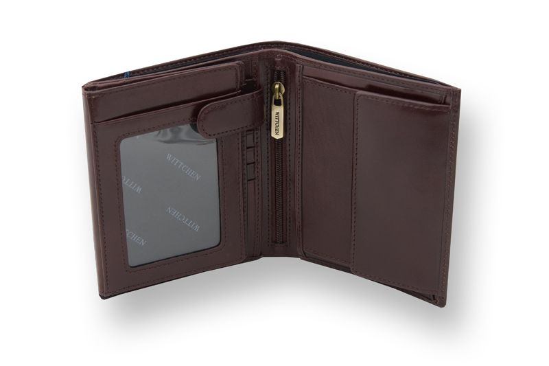Duży, brązowy, skórzany portfel Wittchen, RFID, kolekcja: Italy zdjęcie 3