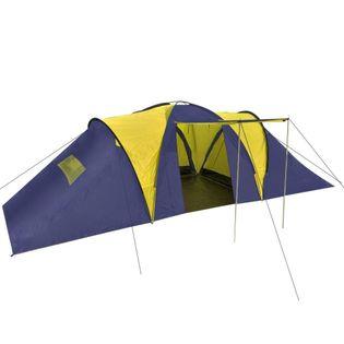 Namiot kempingowy 9-osobowy niebiesko-żółty VidaXL