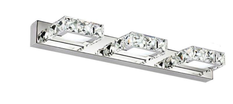 Lampa nad lustro Kinkiet łazienkowy kryształki LED 46 cm 9W - 5980-9W zdjęcie 1