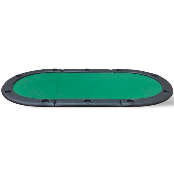 Składany blat do pokera dla 10 graczy, zielony zdjęcie 3