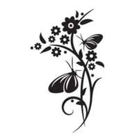 Szablon malarski CH 86 kwiaty, motywy roślinne, szablon do malowania, CH86 Rozmiar - L, Szablon - Samoprzylepny, Odbicie lustrzane - Tak