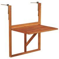 Stolik Balkonowy Z Litego Drewna Akacjowego, Brązowy