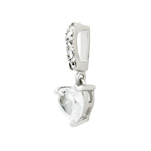 INGRID Komplet srebrnej biżuterii z cyrkoniami serca zdjęcie 4