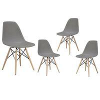 Zestaw 4 nowoczesne krzesło modern DSW retro SZARY C-173
