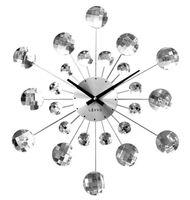 Zegar ścienny LAVVU LCT1080 z kryształkami, średnica 49 cm