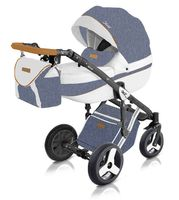 Niebieski wózek dziecięcy wielofunkcyjny Starlet New Milu Kids w zestawie 3w1