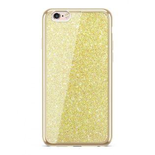 Etui Nakładka Electro Glitter  IPHONE 6/6S Złoty