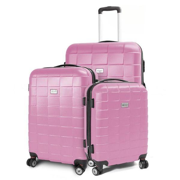 Walizki set zestaw 3 walizek RÓŻOWE zdjęcie 1